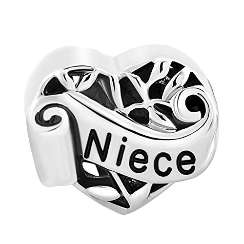 Lifequeen Jewellery I Love You Mum Daughter Sister Grandma Wife Girl Charms Beads For European Bracelets (Niece)