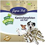 Lyra Pet® 10 kg Kaninchenpfoten mit Fell getrocknet Hase Pfote Lauf Kausnack Kauartikel Leckerli...