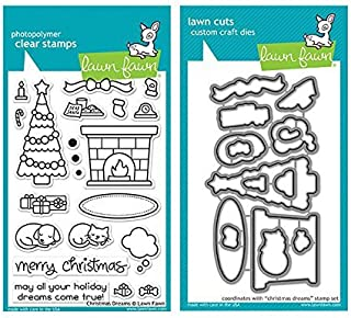 Lawn Fawn Clear Stamp and Die Set - Christmas Dreams - Two Item Bundle