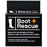 BootRescue All Natural Cleaning Wipes for Leather & Suede Shoes & Boots - Box of 10 Indv Wrapped