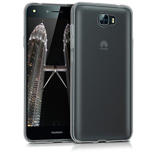 kwmobile Funda Compatible con Huawei Y6 II Compact (2016) - Carcasa de TPU para móvil - Cover Trasero en Negro