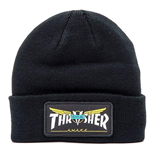 Thrasher X Venture Patch Beanie Black