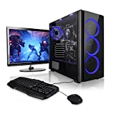 Megaport Super Méga Pack Atlas - Unité Centrale PC Gamer Complet • Ecran LED 24' • Clavier et Souris Gamer • AMD A8-9600 4X 3.1Ghz • 8Go • 1To • Win10 • Ordinateur de Bureau PC Gaming