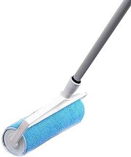 ESGT Vadrouille paresseuse Plate /à Double Face 360 degr/és Vadrouille de Nettoyage /à essorage Automatique avec 2 pi/èces en Microfibre Remplacer Le Tissu 12x38x130cm Blue