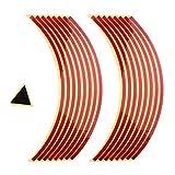 Pegatinas Reflectantes para Ruedas de Coche Moto Quad Universales - Rojo