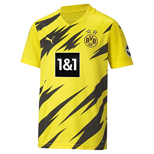 PUMA BVB Home Trikot Replica 20/21 T-Shirt, Cyber Yellow Black, 140