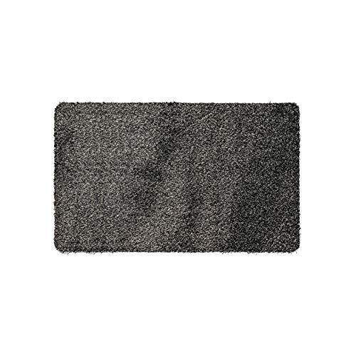 Magic Mat 50x75cm, Grau-Schwarz • Ultra Saugstarke, Waschbare und rutschfeste Fußmatte aus Mikrofaser • Sehr dünn, passt unter Fast Jede Türe