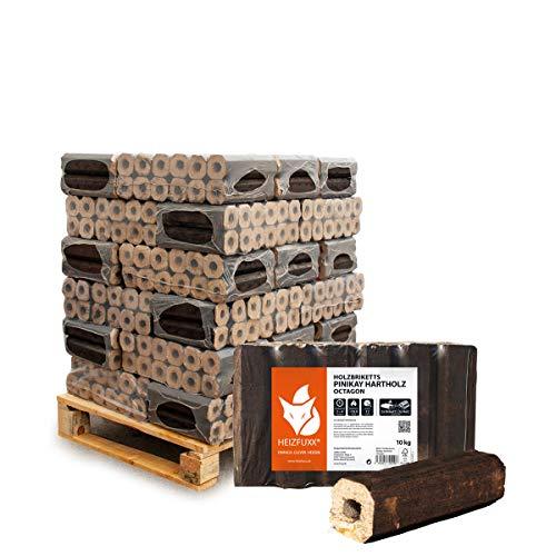 PALIGO Holzbriketts PiniKay Hartholz Eiche Kamin Ofen Brenn Holz Heiz Brikett 10kg x 30 Gebinde 300kg / 1 Palette Heizfuxx