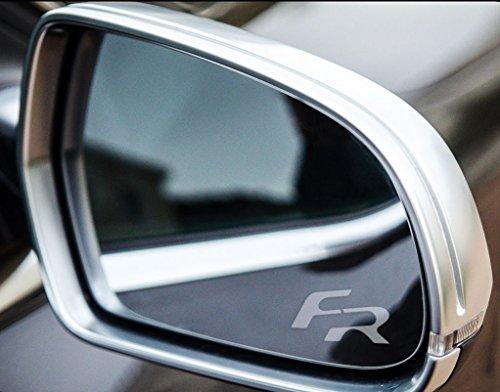 myrockshirt 2 x Seat Leon/Ibiza/Altea Small FR Spiegelaufkleber aus Milchglasfolie, Aufkleber aus Frost Folie,