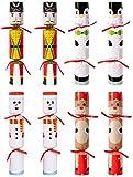 Eternity sky 8PCS Christmas No-snap Party Favors - Snowman Reindeer Nutcracker Penguin No-pop Holiday Supplies for Kids Adults
