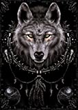 1art1 54536 Gothic - Spiral, Wolf Traumfänger Poster, 91 x