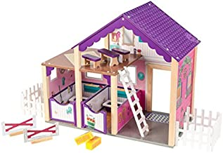 KidKraft Deluxe Horse Stable Playset - Colorful Play Horse Accessory for Two Play Horses with Accessories
