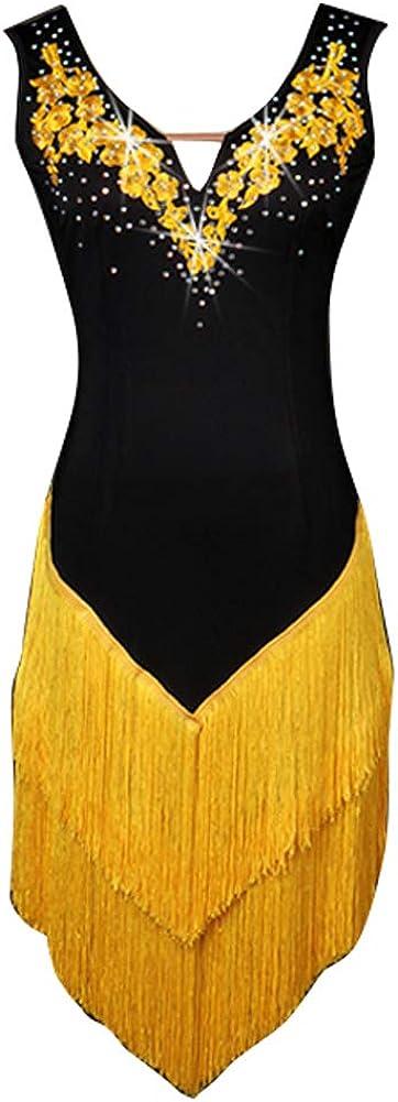Latest item NAKOKOU Women's Latin Dance Tassel Sleeveless Max 57% OFF Costu Fringe