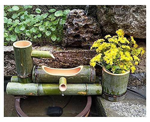 ZFQZKK Kit de Fuente de bambú Fuente de bambú Decoración de jardín Japonesa Feng Shui Cascada Carrera larga50cm Cuenco de Agua de jardín