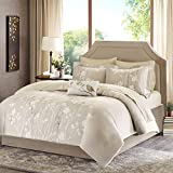 Madison Park Essentials MPE10-015 Vaughn Complete Bed and Sheet Set-Taupe-Queen