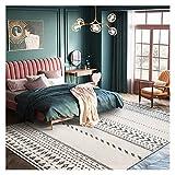 Tapis doux d'intérieur Moderne Shag Tapis moquette rectangle simple 5.2' x7.5' Salon Intérieur Chambre Tapis Pour la décoration de bureau à domicile (Taille : 5.2' x7.5')