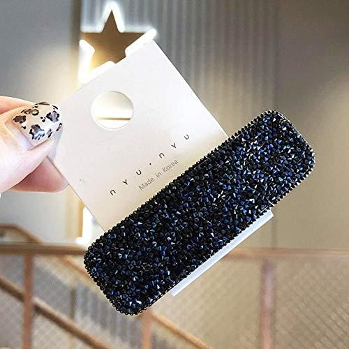 KADIS 3 PC Carré Goutte d'eau Bling épingles à Cheveux Chapeaux pour Femmes Filles Cheveux Clips Pins Barrette Accessoires, Carré Bleu