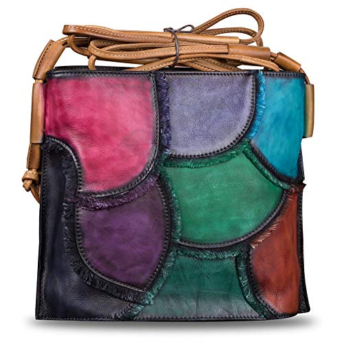 Characteristic : Special retro coloring process makes this bag looks unique. Material : Genuine cow leather + polyester Structure : 1 Main zip pocket(2 Compartments,2 zip pockets and 2 open pockets inside) ,1 Back zip pocket. Dimensions :28x10x24.5cm...