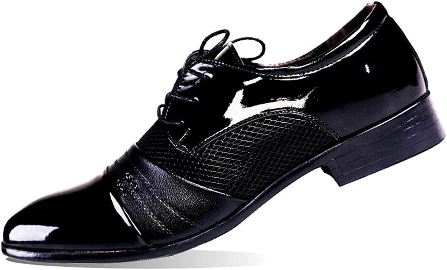 Leather shoes Men's Business Men's shoes With Pointed Casual shoes Cricket shoes (color   Black, Size   46)