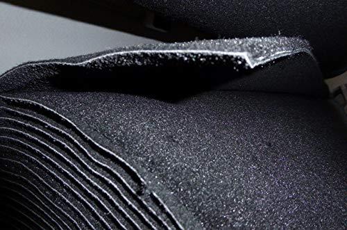 autix 16,95 Euro/m² Teppich Meterware Autoteppich feiner Dicker Velour schwarz 200cm