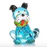 Tooarts - Perro Sentado - Adorno de Cristal Hecho a Mano Regalo de Vidrio Ornamento Animal Decoración para el Hogar Multicolores