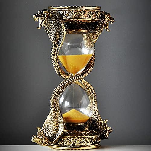 HJXX Reloj de Arena Egipcio de la Diosa de la Cobra, Reloj de Arena de la Cobra de fantasía misteriosa, artesanías de Metal Decorativas egipcias Antiguas