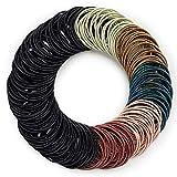 Kavya® Gomas para el pelo para mujer, multicolor, 200 unidades, 6 colores, gomas de pelo, gomas elásticas para el pelo, para niñas