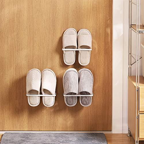 ドアや収納棚などに強力粘着テープで張り付けるスリッパラックです。U字型のシンプルな形で、毎日使うスリッパを手軽に管理できます。一人暮らしのお部屋におすすめです。