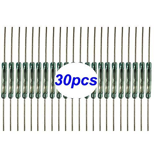 Gebildet 30 Piezas Interruptor de Lengüeta, Mini Contacto de Lengüeta Interruptor Magnético de Inducción Normalmente Abierto (N O) (2 mm x 14 mm)