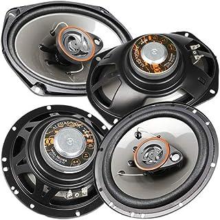 Alphasonik AS2629P 6.5' 350W Max 3-Way Speakers Plus 6X9 500W Max 3-Way Car Audio Coaxial Speaker Package