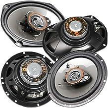 "Alphasonik AS2629P 6.5"" 350W Max 3-Way Speakers Plus 6X9 500W Max 3-Way Car Audio Coaxial Speaker Package photo"