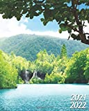 2021-2022: Exotic Two Year 24-Months Weekly Planner Agenda Calendar Organizer with Useful Features - Jungle Rain Forest Waterfalls
