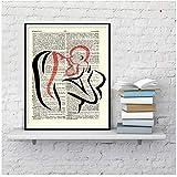 nr Madre y bebé Arte Abstracto Decoración del hogar Carteles y Arte de la Pared Sala de Estar Pintura de la Lona 50x70cm sin Marco