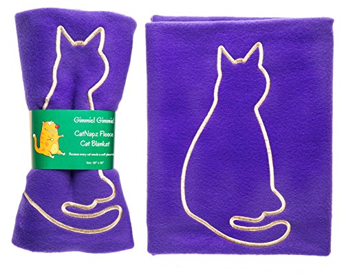 CatzOnly Thermal Cat Blanket, Fleece Cat Blanket, Use as Cat Bed Blanket, Cat Bed Mat or in Cat Carrier or Cat Kennel, Custom Made in the USA of Quality Fleece, Available in Four Colors, 30Wx36L