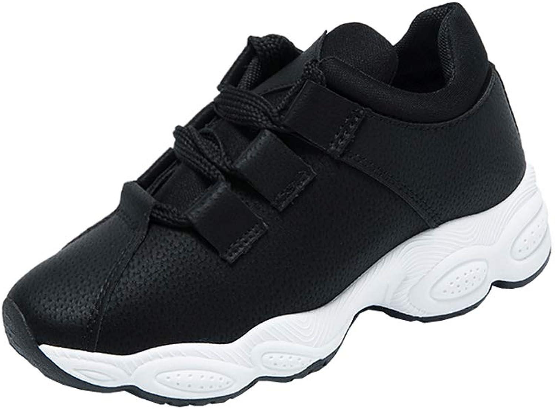 KUIBU Women Lightweight Sport Breathable Slip-On Platform Toning shoes Suede High Heel Sneaker Athletic