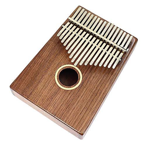 Thumb Piano 17 Tasten Handliche Tragbare Walnuss Kalimba Natural Piano Mini Keyboard Instrument GroßEs Geschenk,ClassicStyle