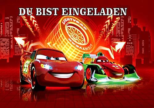 VSW Disney's Pixar Cars Einladungskarten 6er Set inkl.6 Umschläge M3