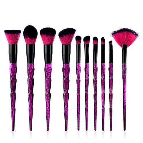 Hexiaoyi Makeup Brush Tool Make-up Toiletry Kit Nylon Cosmetic Brush Eye Brush Set Tools 10 In 1 (Size : T-086)