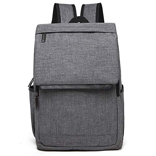 Laptop Bag, Universal Multi-Function Canvas Laptop Computer Shoulders Bag Leisurely Backpack Students Bag, Size: 42x30x12cm, Portable Notebook Computer Carrying Case Bag (Color : Grey)
