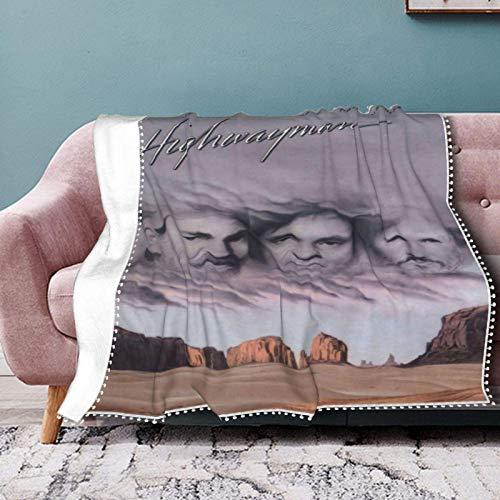 The Highwaymen - Manta de franela casual con pompón, con flecos, de felpa ligera, manta de franela para sala de estar, 203 x 152 cm