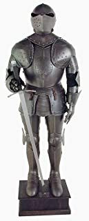 Black Knight Suit of Armor - Full Size Aged Antiqued Finish