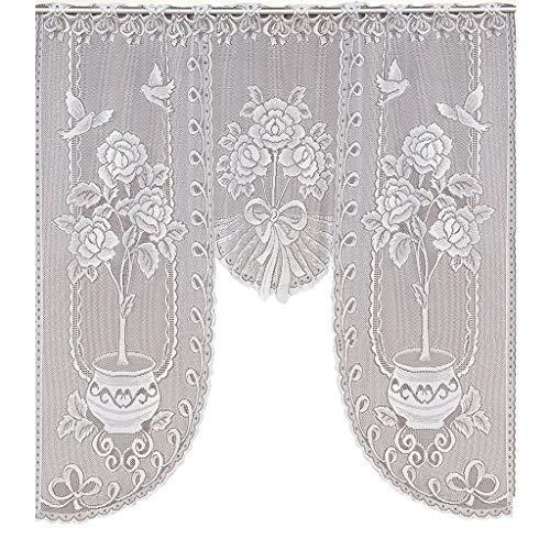 Cortinas de tul transparente para oscurecimiento de la habitación de la habitación - cortinas térmicas aislantes para ventanas de gasa para dormitorio de niña/cocina cortina de café
