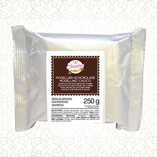 Premium Modellierschokolade - BRAUN 250 g - Schokolade, Modelliermasse - Shantys