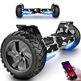 Markboard Overboard, Gyropode Hover scooter Board 8,5 Pouces Hoverboard SUV Bluetooth&App, Self-Balance E-Scooter Tout Terrain avec LED,700W moteur Skateboard