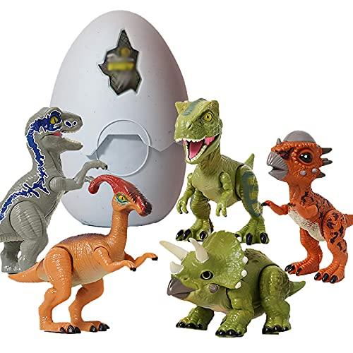 FGZU Material De Protección Ambiental Abs Dinosaurio Huevo para Incubar Tyrannosaurus Rex, Triceratops Desmontaje Modelo PláStico Parque De Dinosaurios, Las Extremidades Pueden Moverse DinosaurEggA