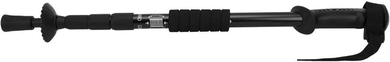 DAUERHAFT Lightweight Anti‑Slip Hiking Stick Aluminum Alloy Foldable Anti-Shock Trekking Pole Durable 4-Sections for Men Women for Outdoor Mountain Hiking Travel