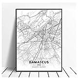 GIRDSS Aleppo Damaskus Syrien Leinwand Kunstkarte