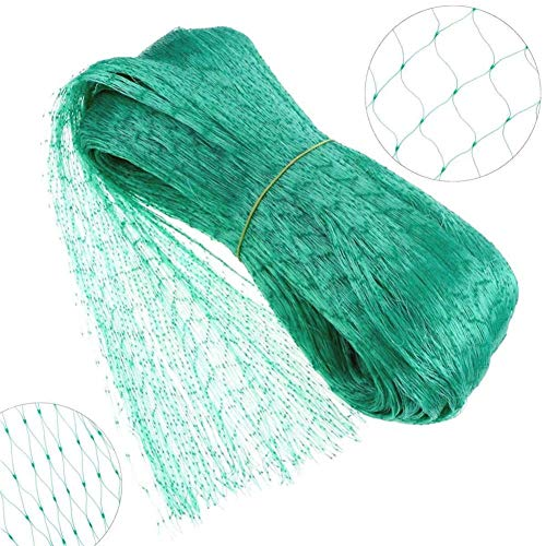 iBàste Filet Anti-Oiseaux 4 m x 6 m Vert Jardin Anti Oiseau Filet de Bassin pour Plante Filet de Protection pour Pest Control, Pea Fruits Filet 15 X15 mm Trous
