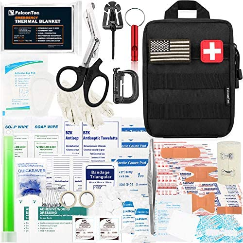 FalconTac 200 Pieces First Aid Kit IFAK Survival Kit Molle System Compatible Pouch Emergency product image