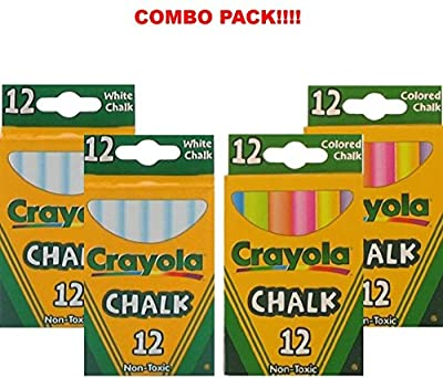 Crayola 2 Pack White Chalk + 2 Pack Color Chalk from CRAYOLA